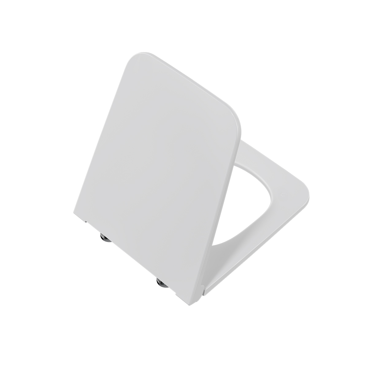 Equal WC-Sitz Slim ohne Absenkautomatik, Weiß Hochglanz
