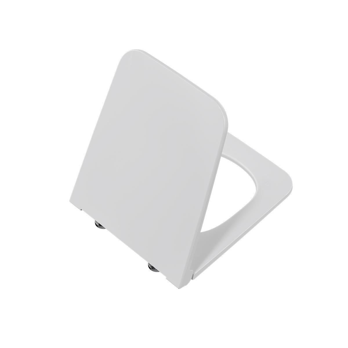 Equal WC-Sitz Slim mit Absenkautomatik und Schnellverschluss, Weiß Hochglanz