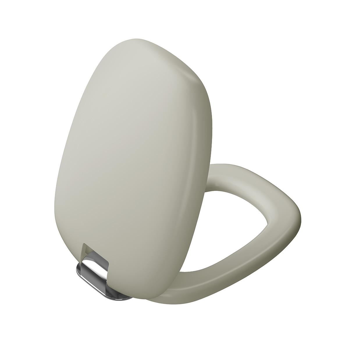 Plural WC-Sitz mit Absenkautomatik, Taupe Matt/Chrom