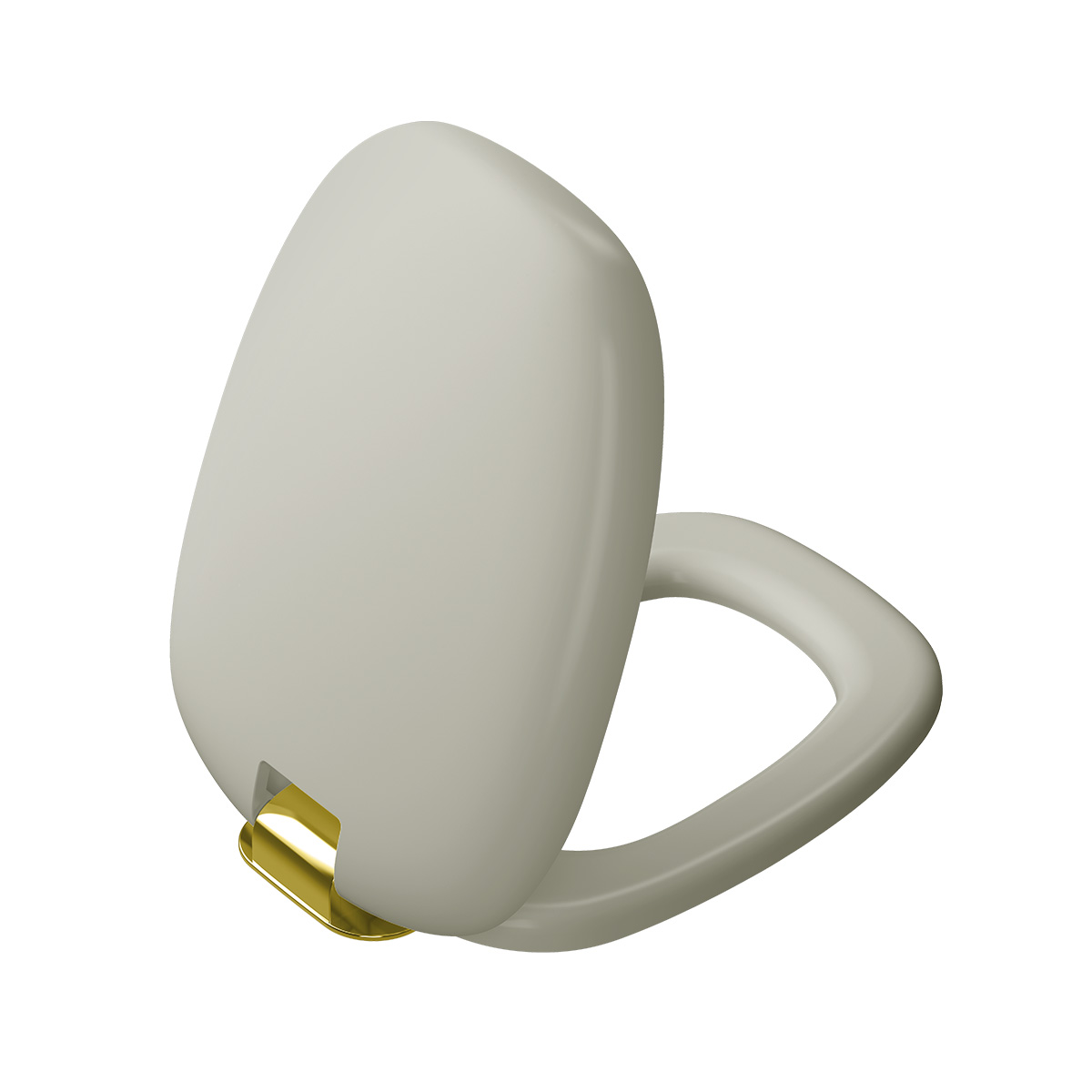 Plural WC-Sitz mit Absenkautomatik, Taupe Matt/Gold