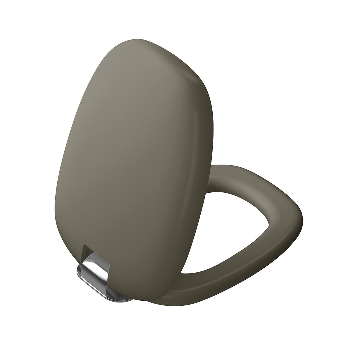Plural WC-Sitz mit Absenkautomatik, Nerz Matt/Chrom