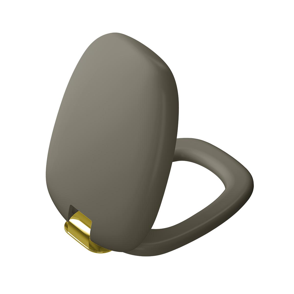 Plural WC-Sitz mit Absenkautomatik, Nerz Matt/Gold
