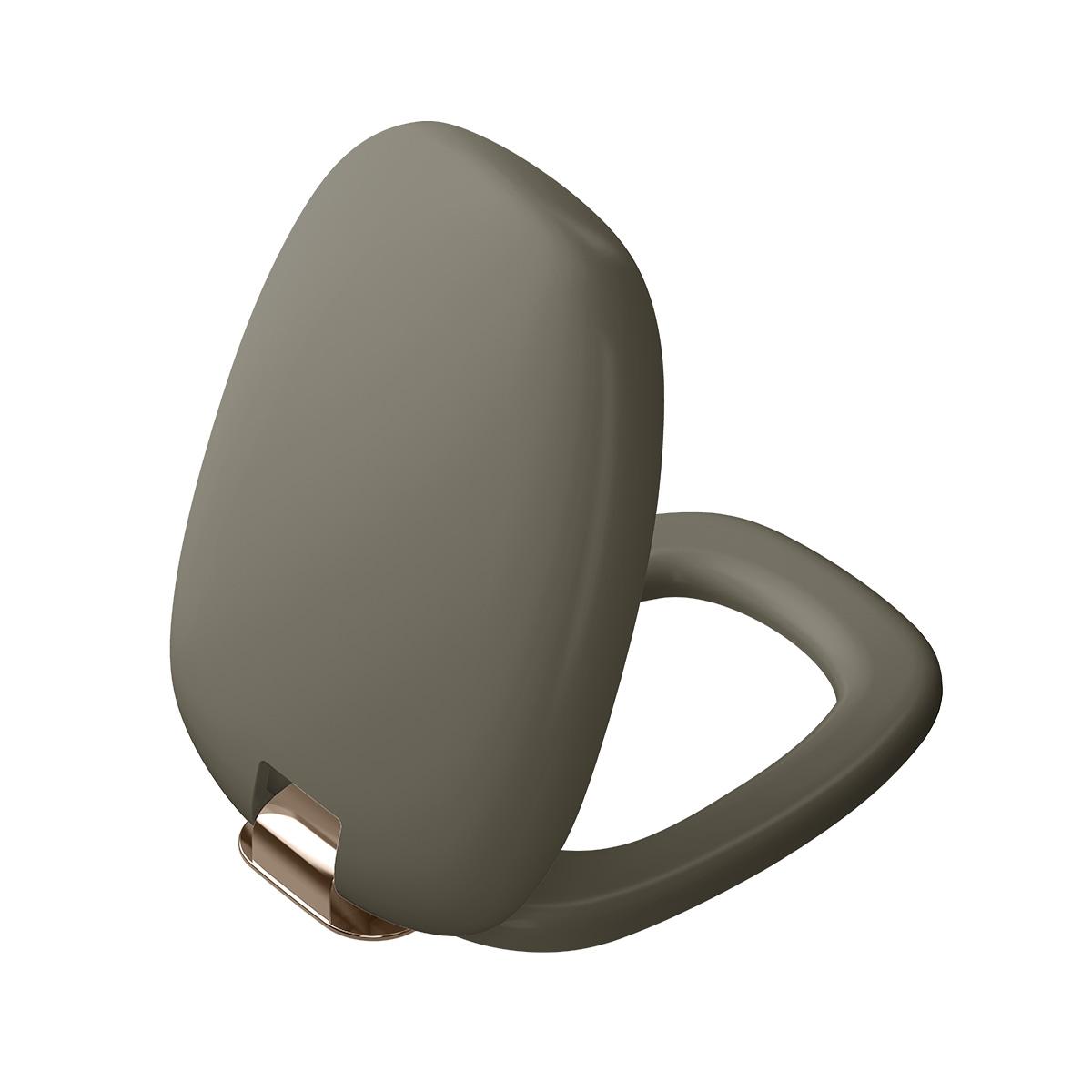Plural WC-Sitz mit Absenkautomatik, Nerz Matt/Kupfer