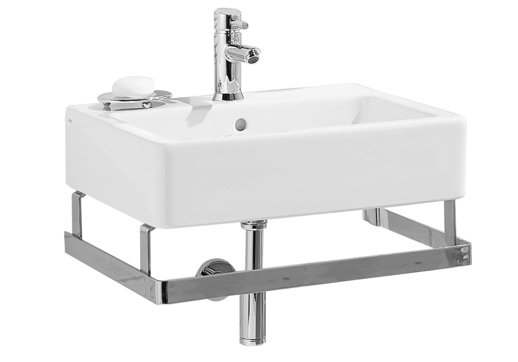 D-Light porte-serviettes, pour lavabo #5918, acier inoxydable, chromé