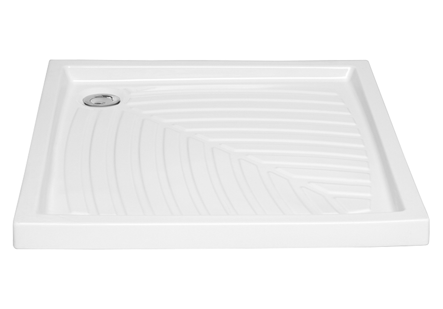 Arkitekt receveur à encastrer ou à poser fond extra plat, 90  x  90 cm, blanc