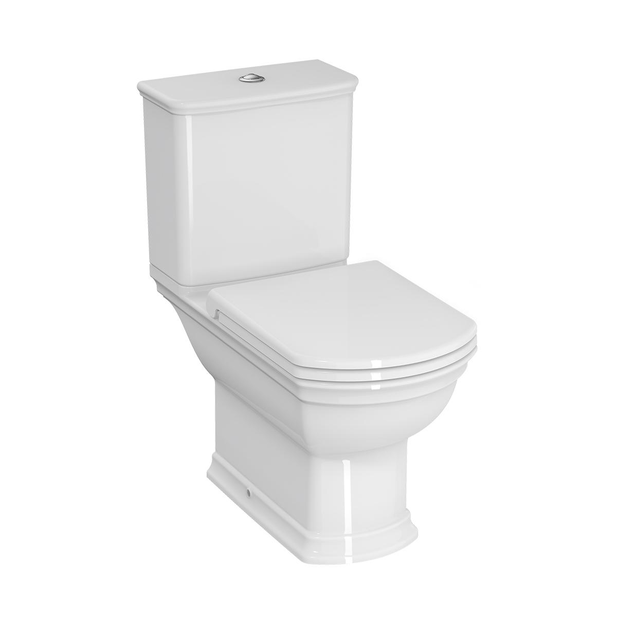 Valarte WC à poser avec bride, open back, 70 cm, blanc