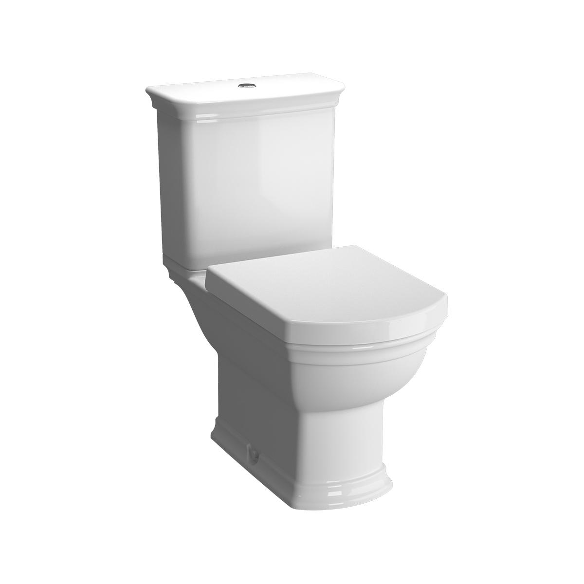 Valarte réservoir de chasse d'eau en céramique, raccordement latéral, blanc