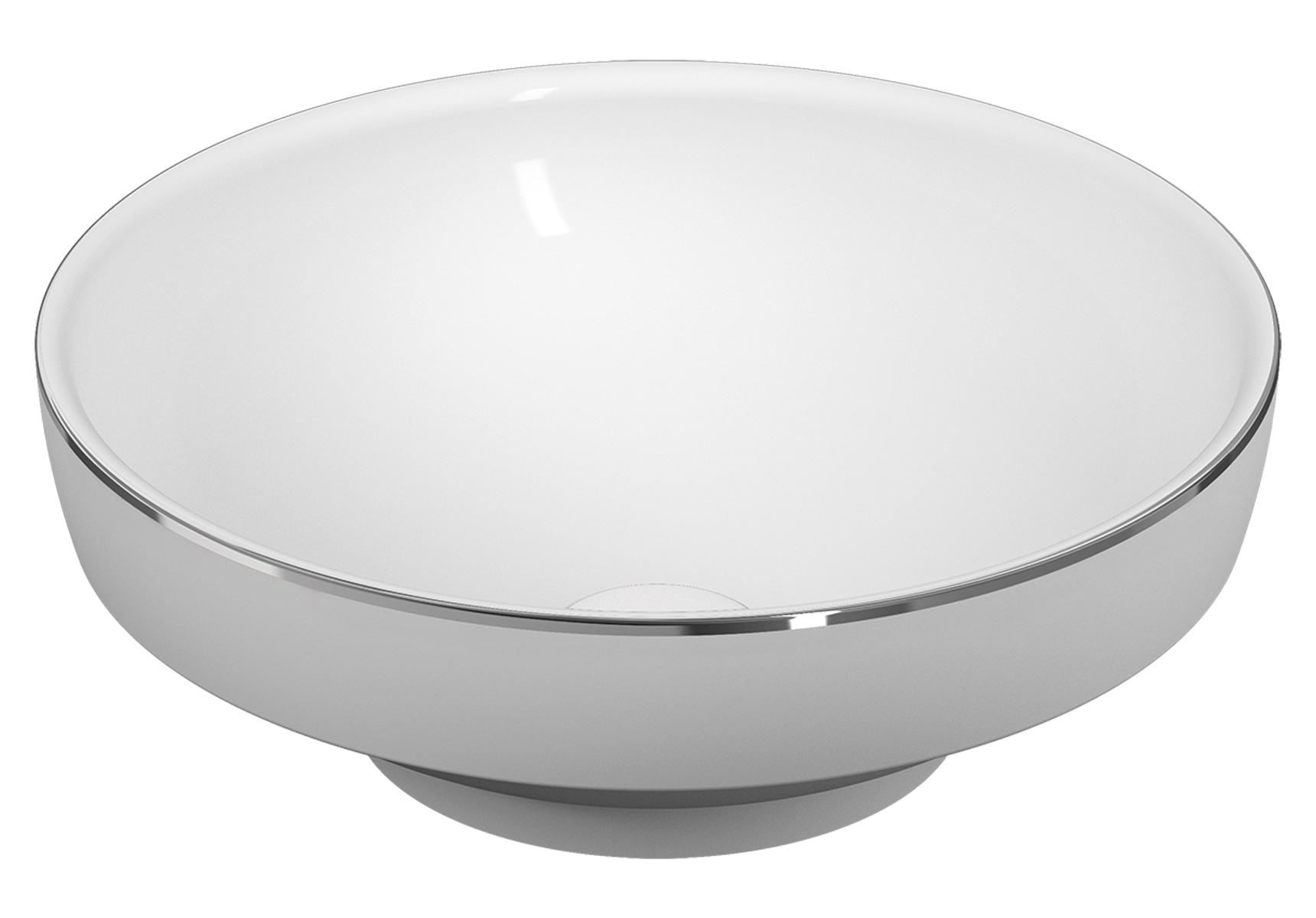 Water Jewels Aufsatzschale rund, Weiß/Platinum