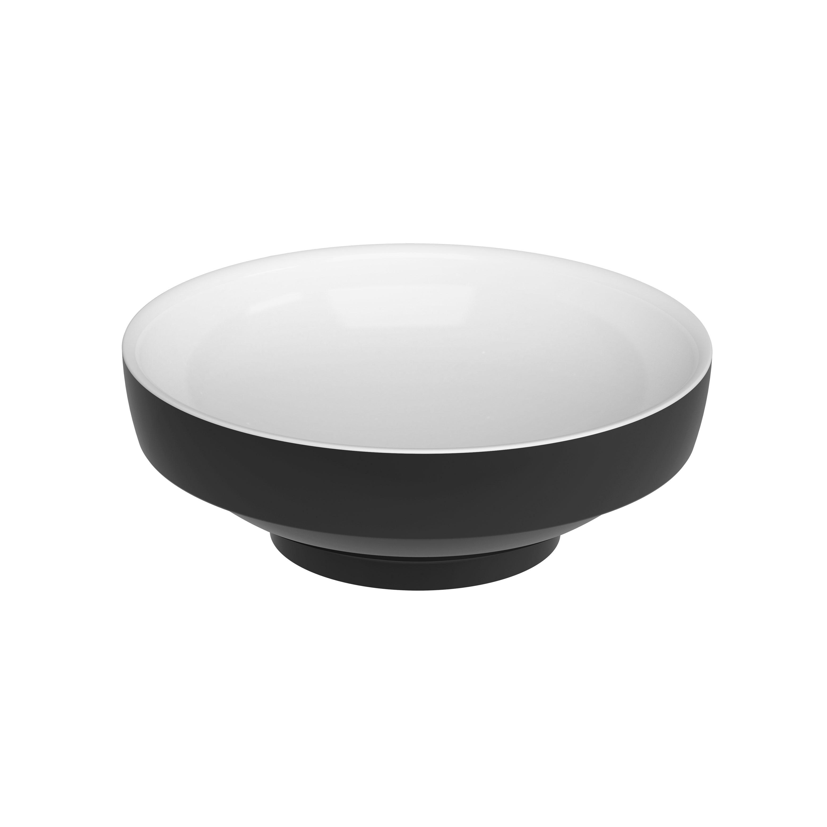 Water Jewels vasque à poser, ronde, 40 cm, noir et blanc
