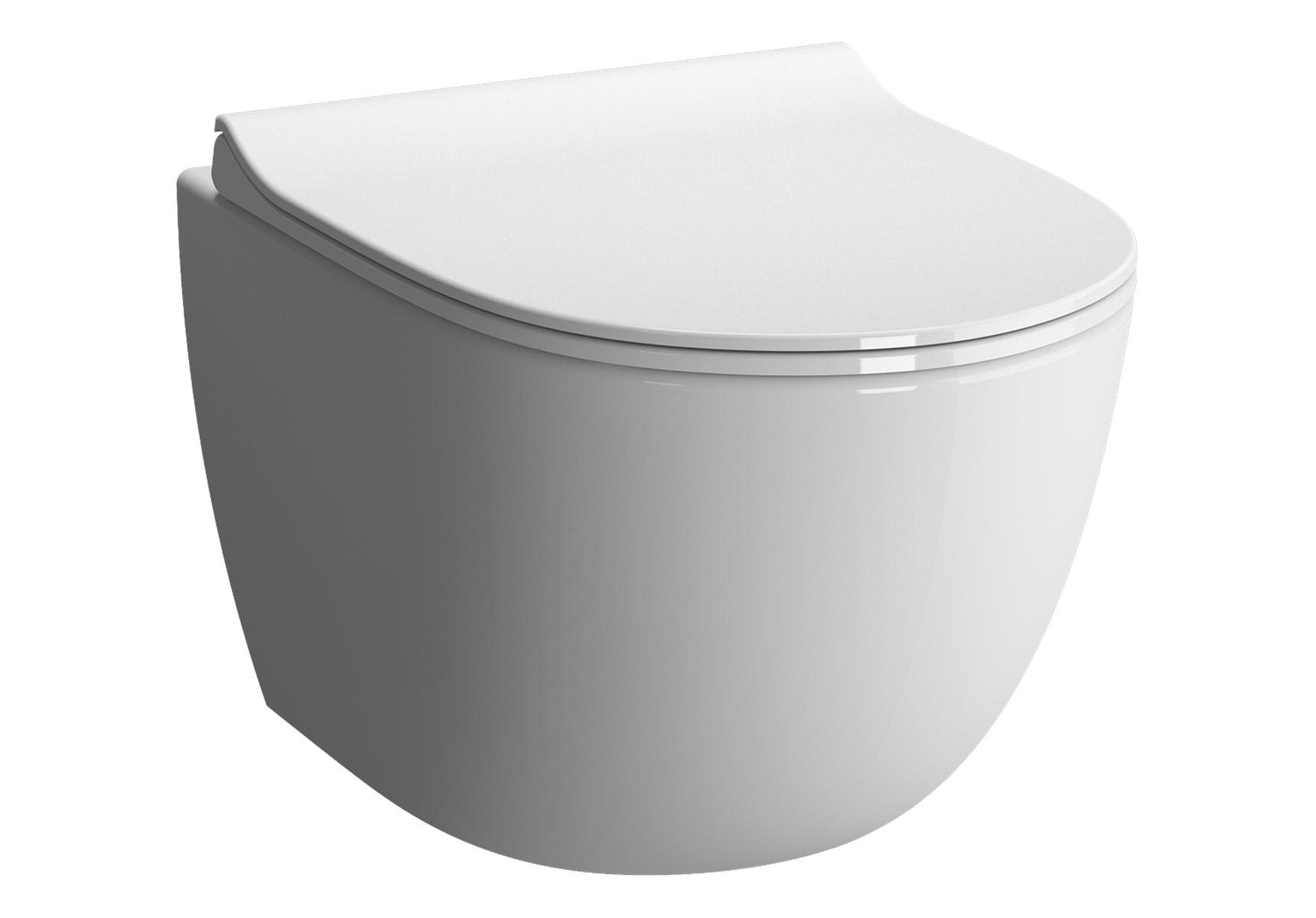 Sento Wand-WC Compact, Weiß mit VitrA Clean