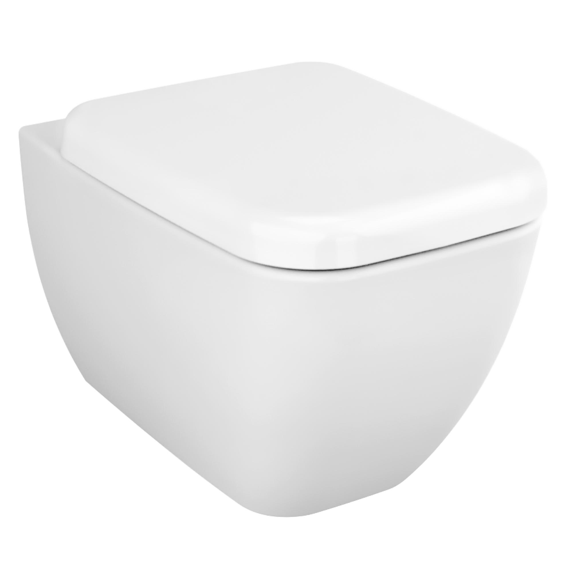 Shift Wand-WC Compact mit Bidetfunktion, Weiß mit VitrA Clean