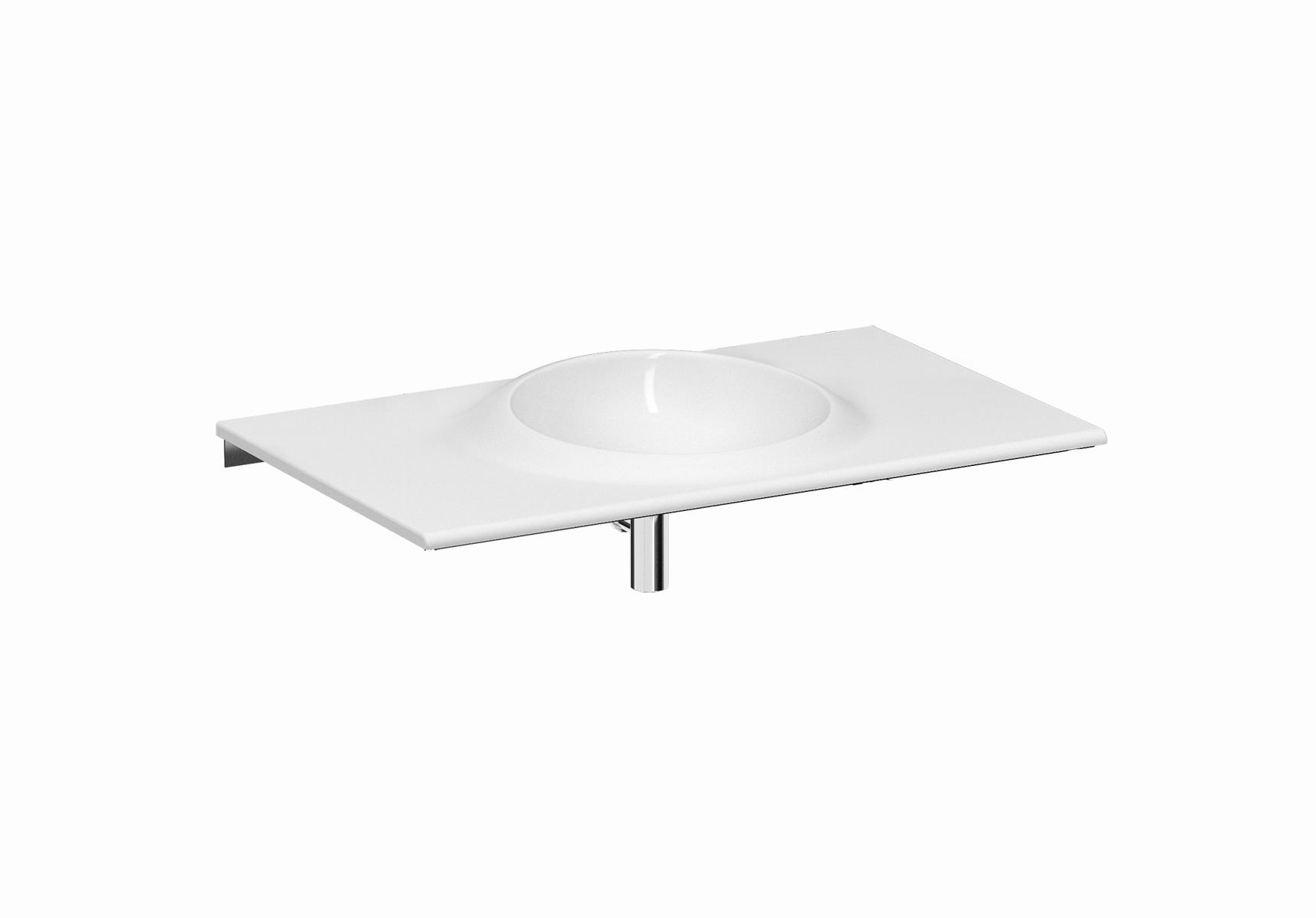 Istanbul lavabo, sans trou pour robinet, 100 cm, blanc