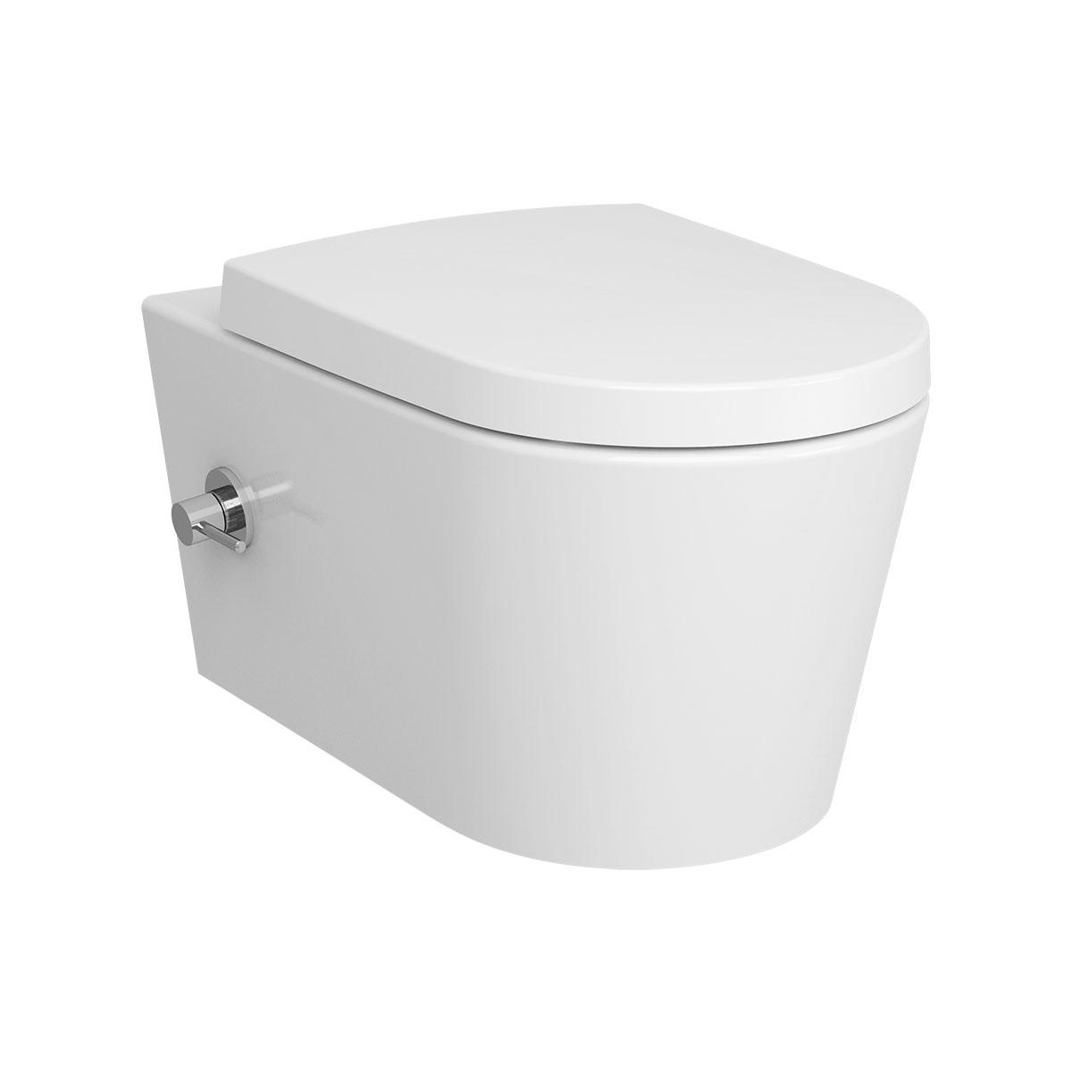 Options Nest Wand-WC VitrA Flush 2.0, mit Bidetfunktion und seitlich integrierter Armatur