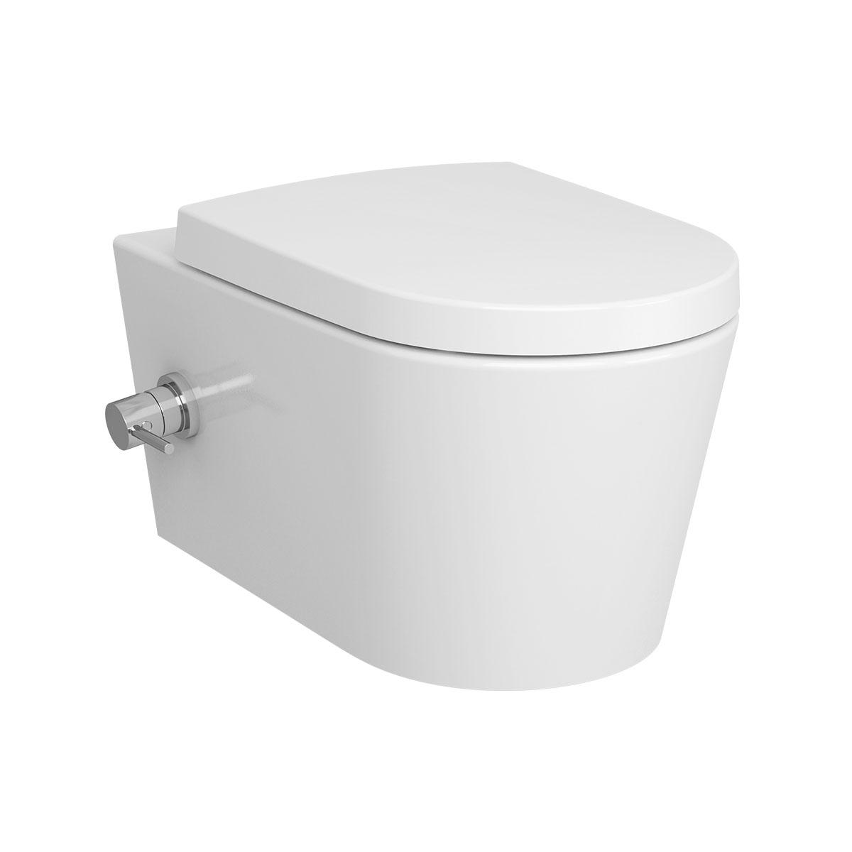 Options Nest Wand-WC VitrA Flush 2.0, mit Bidetfunktion und seitlich integrierter Thermostat-Armatur