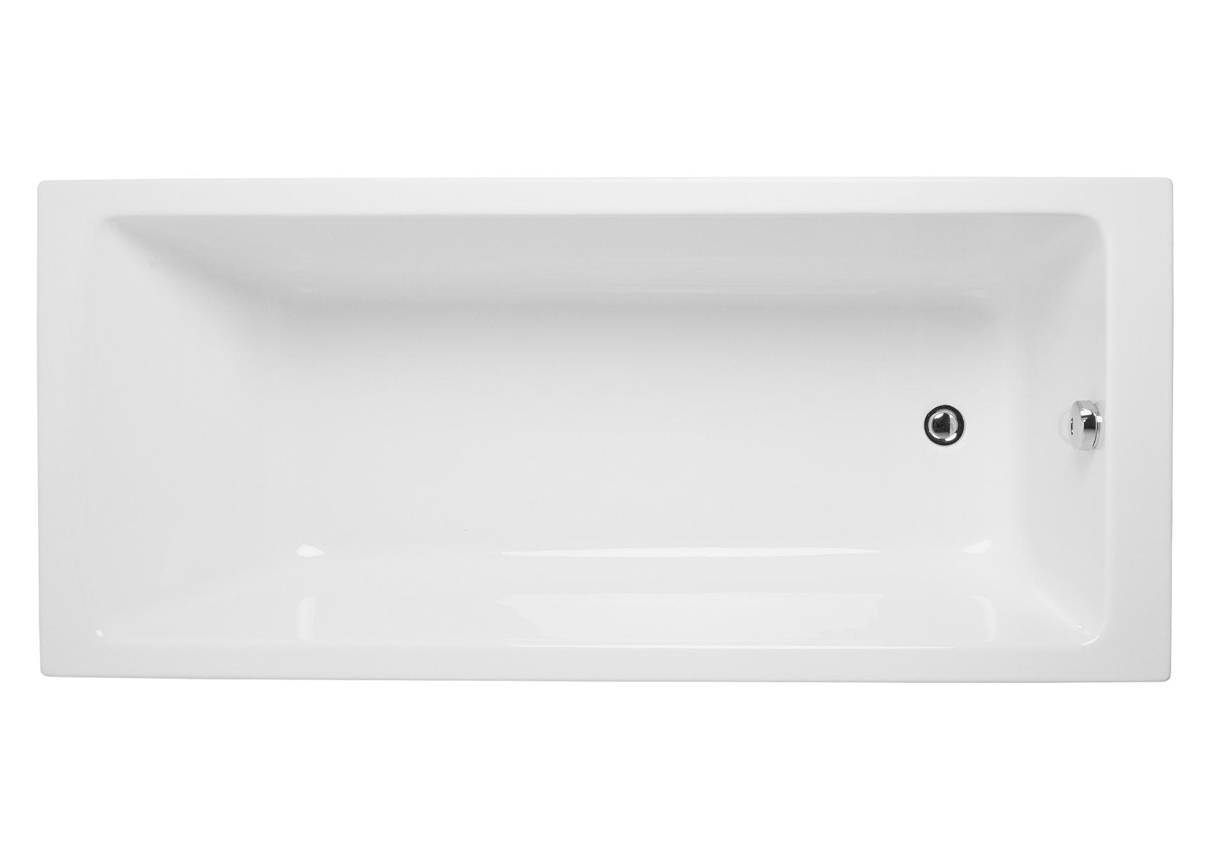 Integra baignoire ergonomique rectangulaire en acrylique 4 mm, 170  x  75 cm