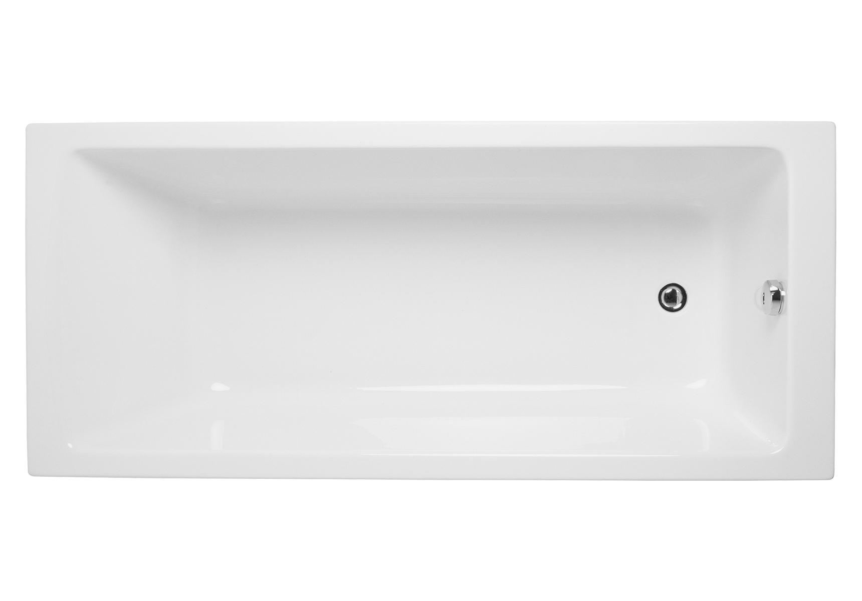 Integra baignoire ergonomique rectangulaire en acrylique 4 mm, 160  x  75 cm