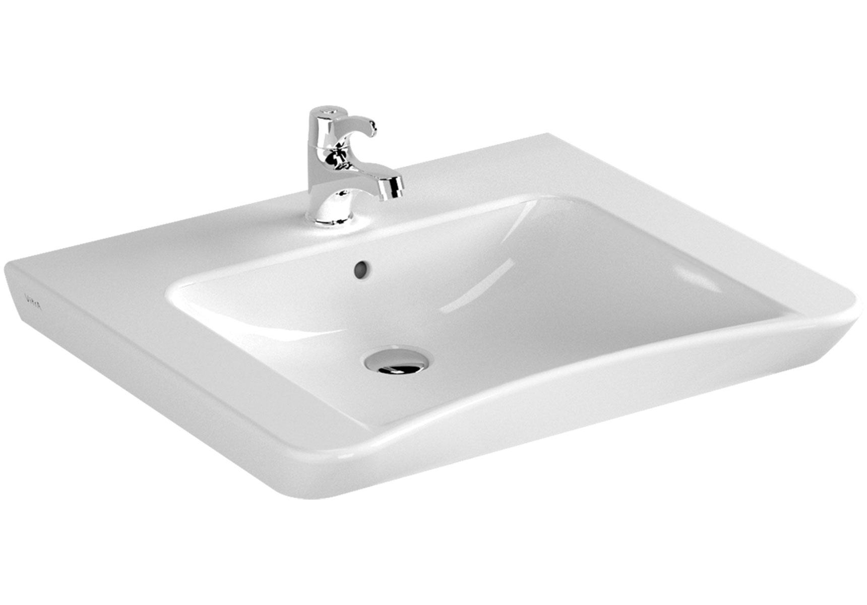 Conforma lavabo PMR, 65 cm, avec trou de robinet, avec trou de trop-plein