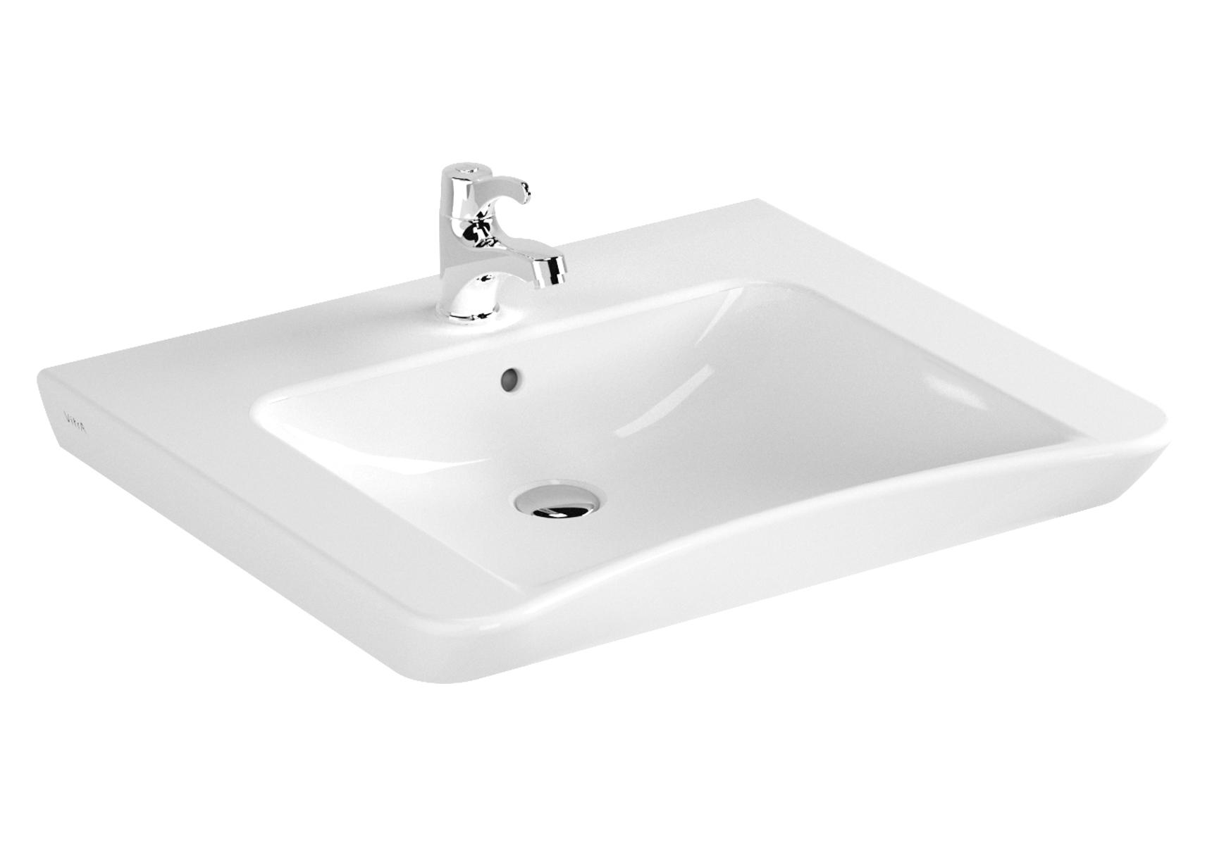 Conforma lavabo PMR, 65 cm, sans trou de robinet, sans trou de trop-plein