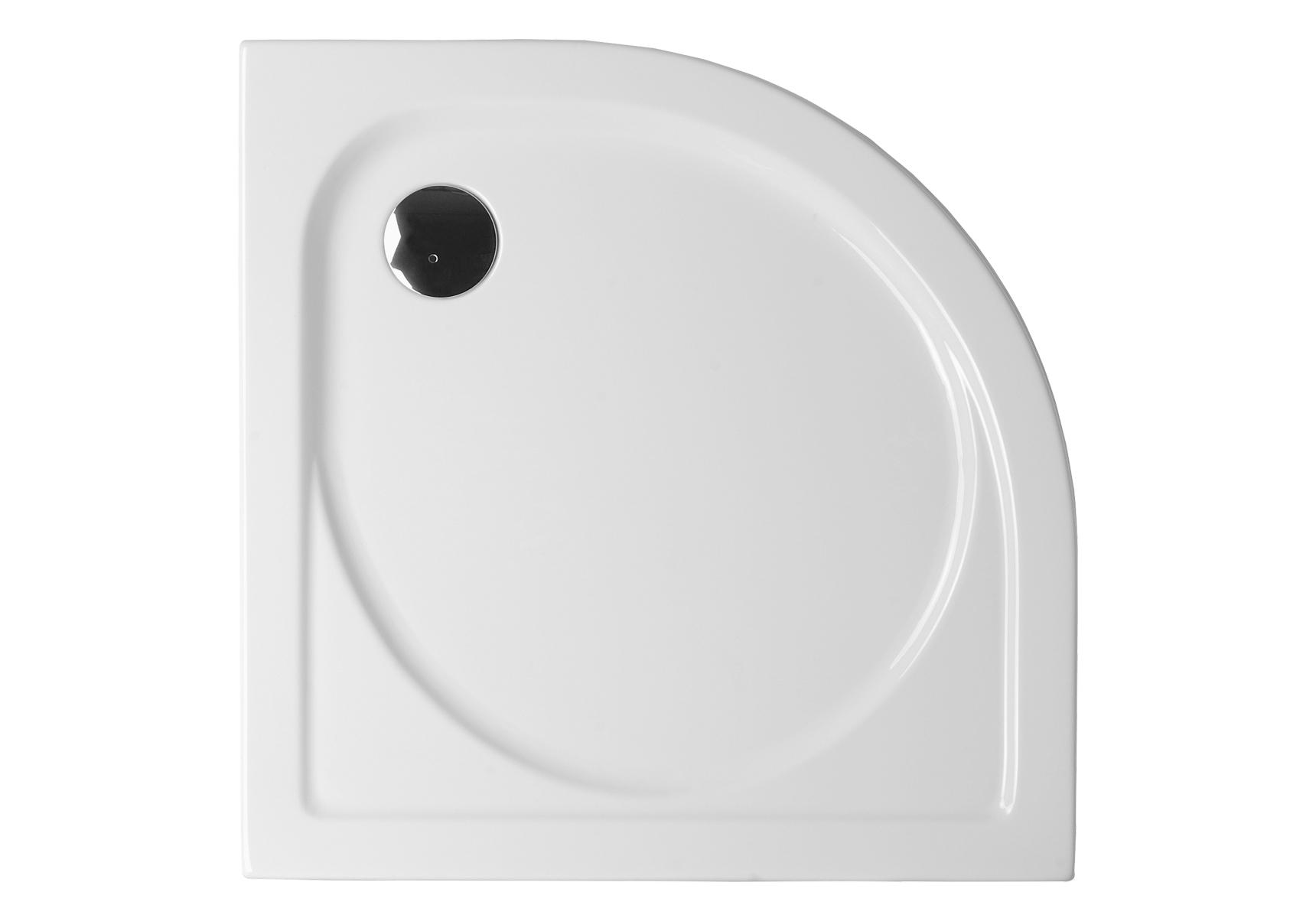 Integra receveur ultra plat en acrylique, 1/4 rond, 100  x  100 cm