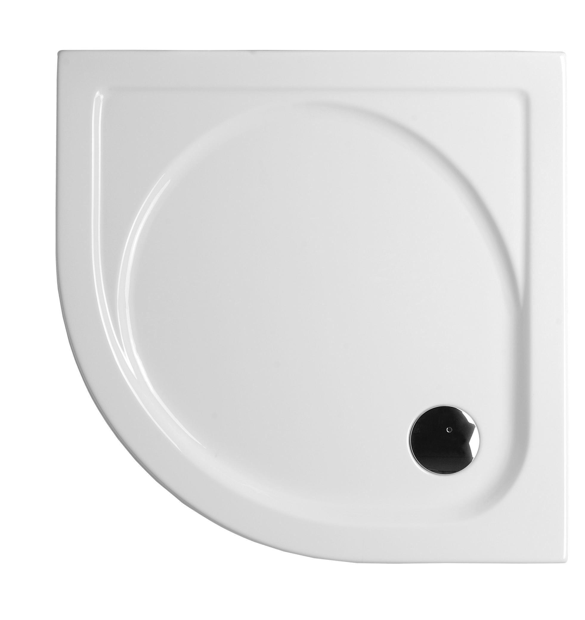 Integra receveur ultra plat en acrylique, 1/4 rond, 100  x  100 cm, VitrA Antislip