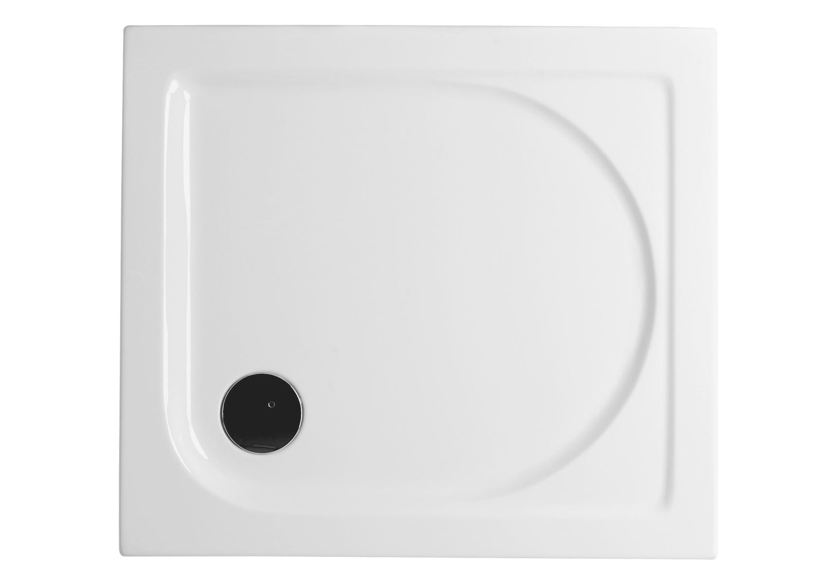 Integra receveur ultra plat en acrylique, carré, 100  x  100 cm