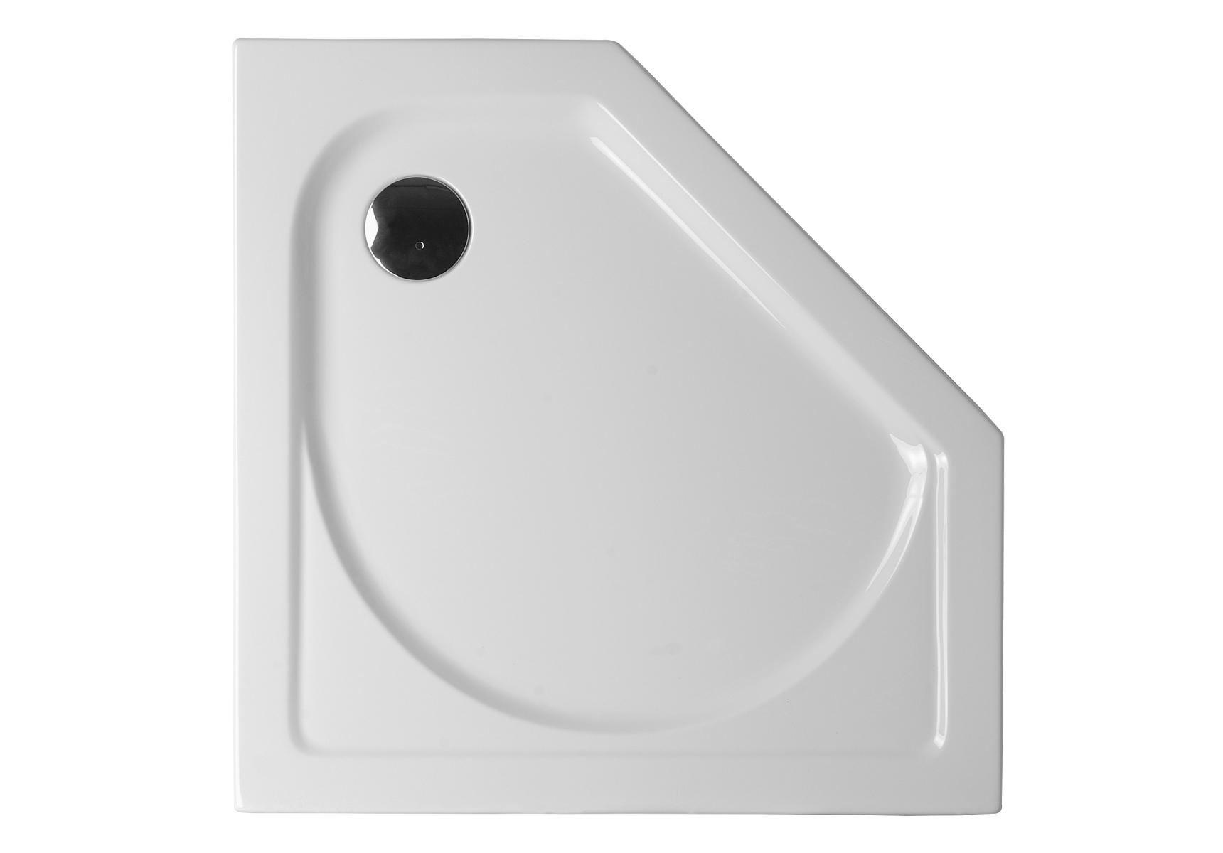 Integra receveur ultra plat en acrylique, pentagonal, 100  x  100 cm