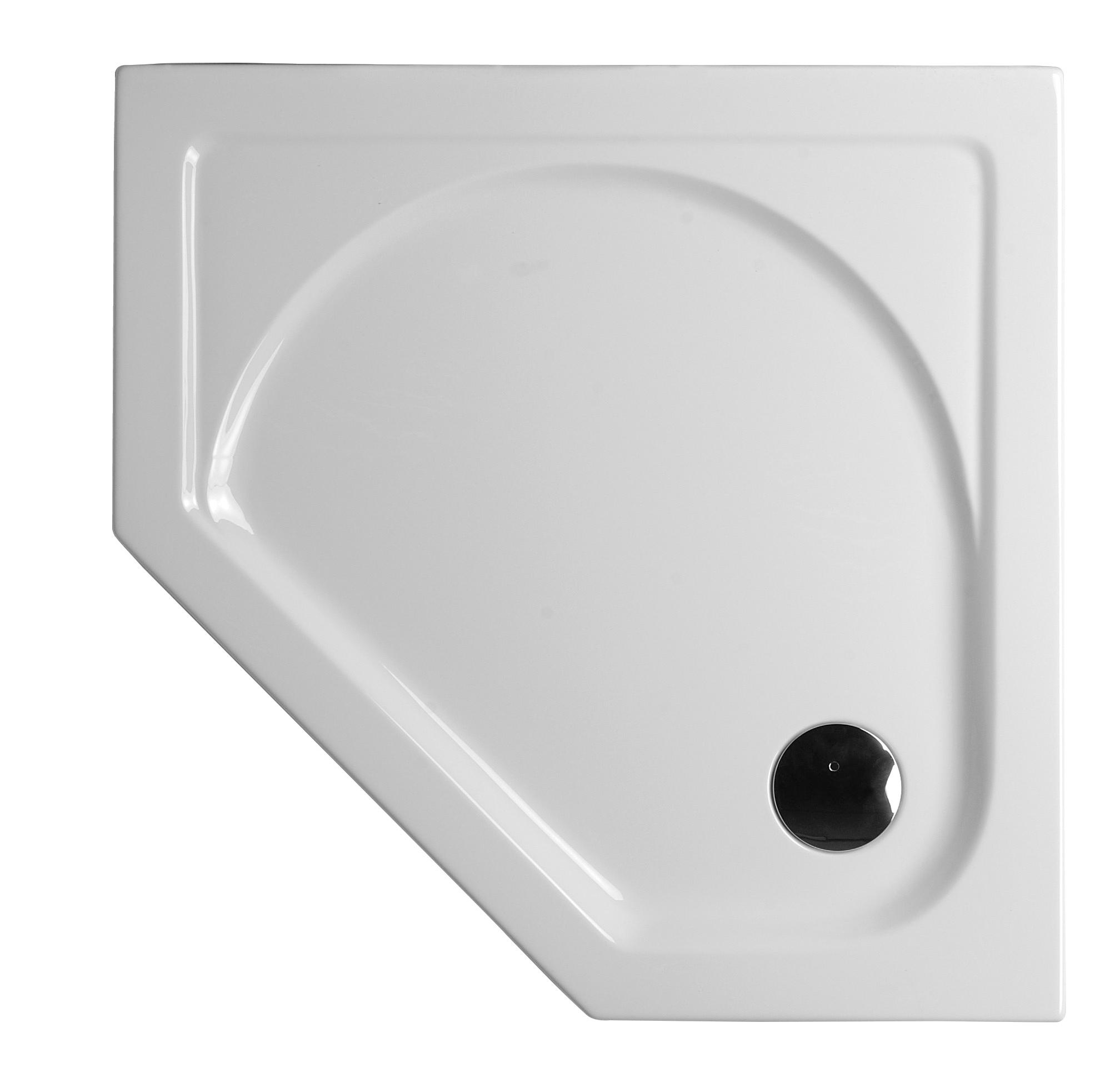 Integra receveur ultra plat en acrylique, pentagonal, 100  x  100 cm, VitrA Antislip