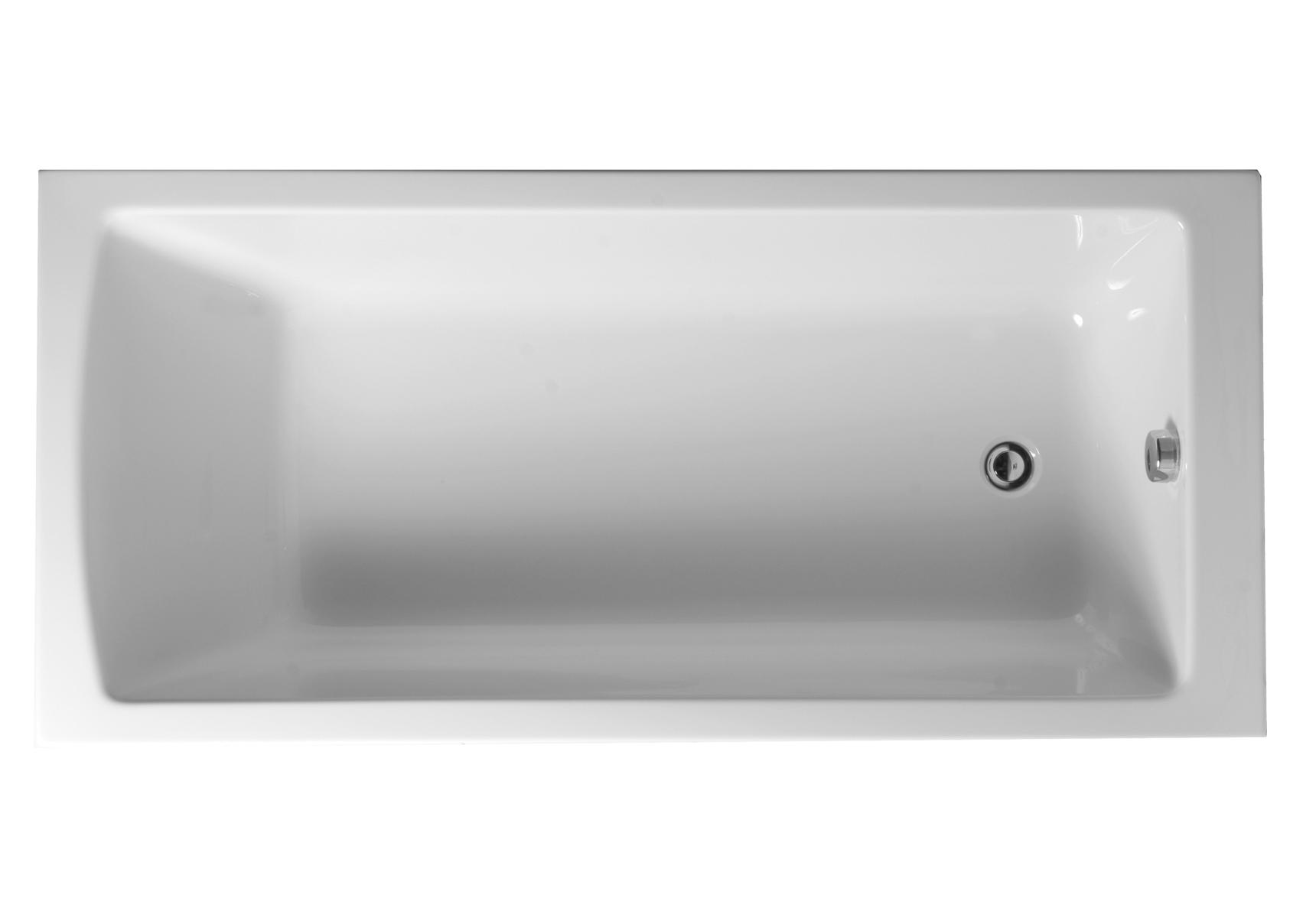 Integra baignoire ergonomique, rectangulaire en acylique 4 mm, version encastrée, 175  x  75 cm