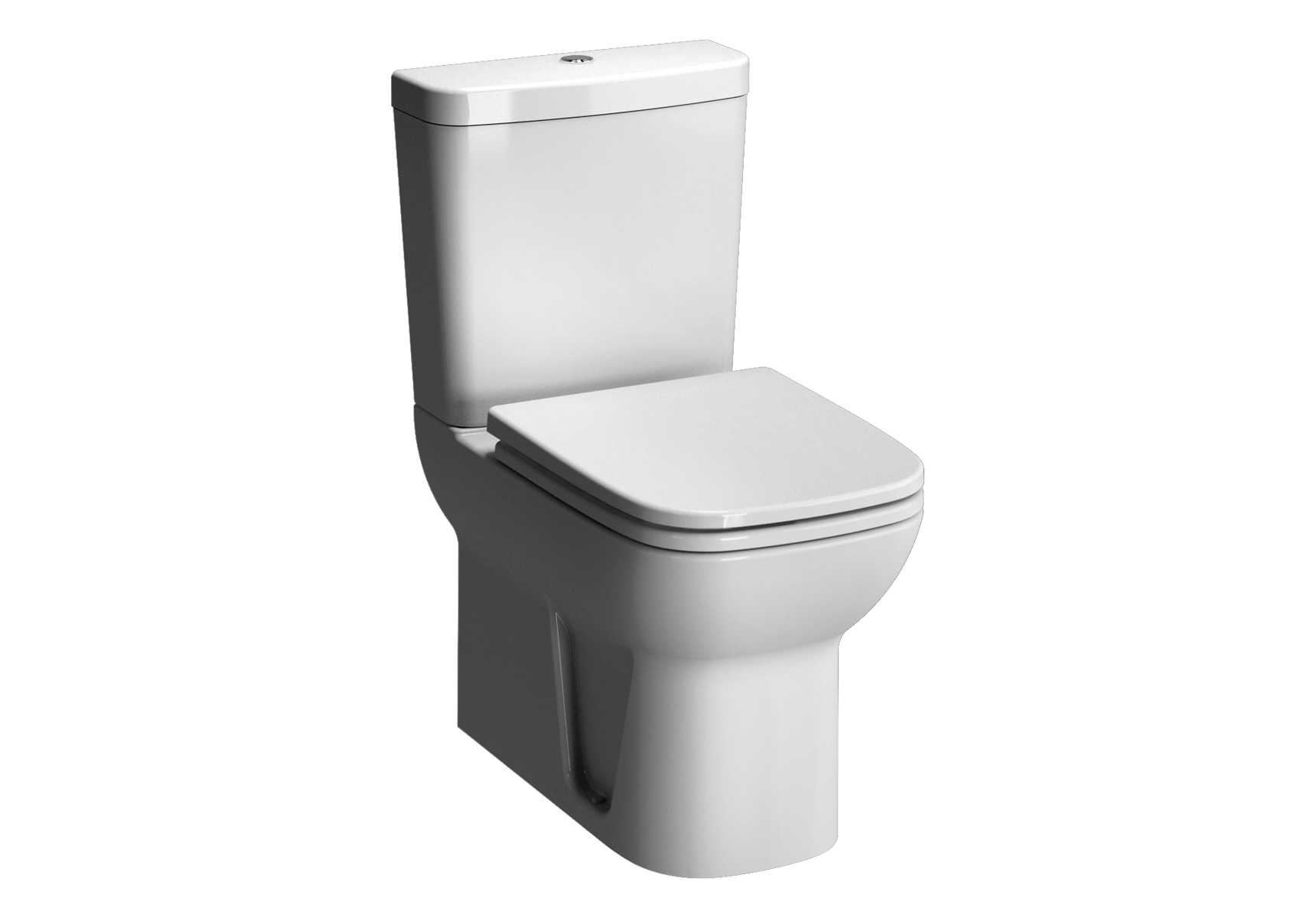 S20 WC à poser avec bride, 61,5 cm, blanc