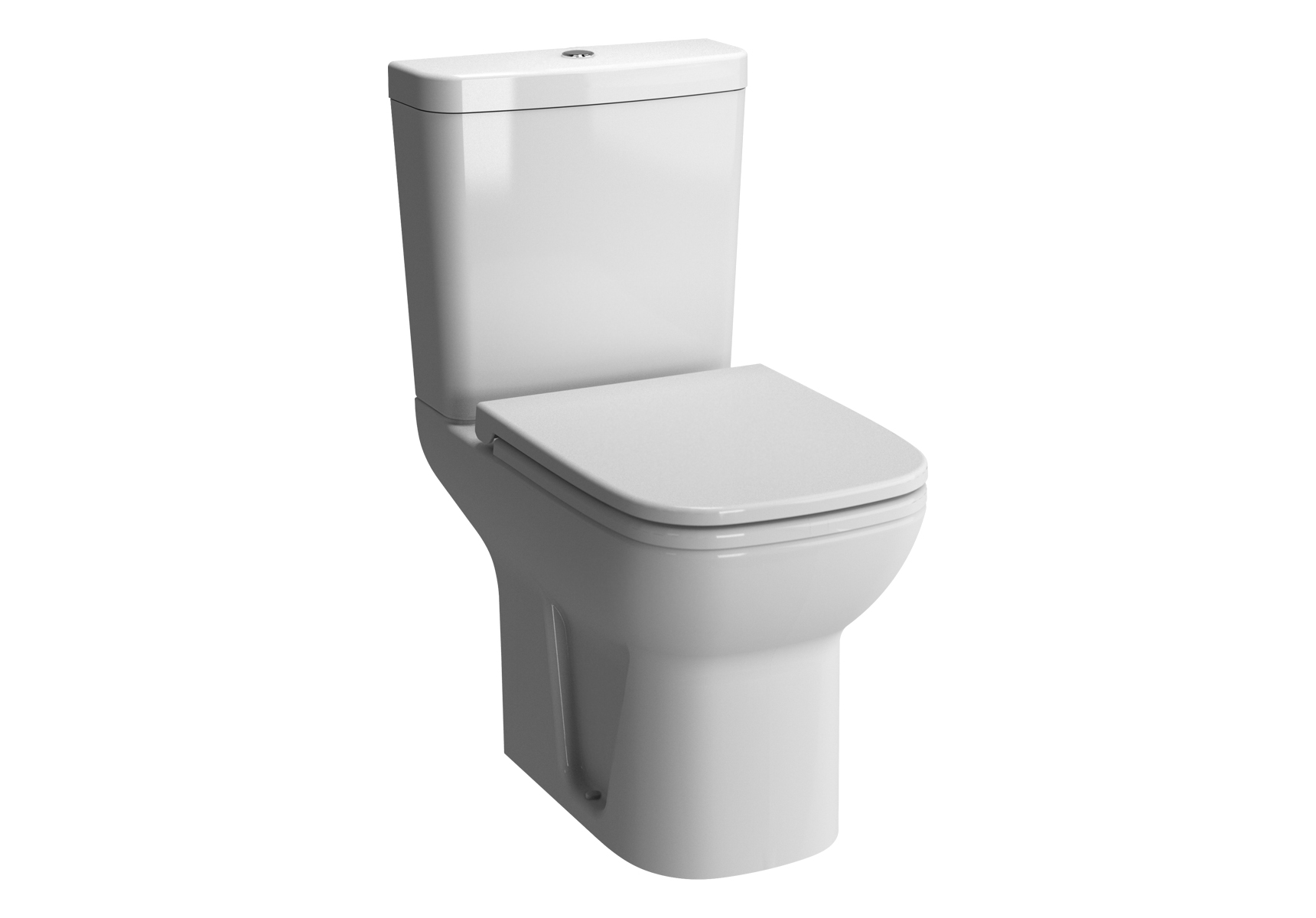 S20 WC à poser avec bride, 61,5 cm, avec 2 points d'ancrage, blanc