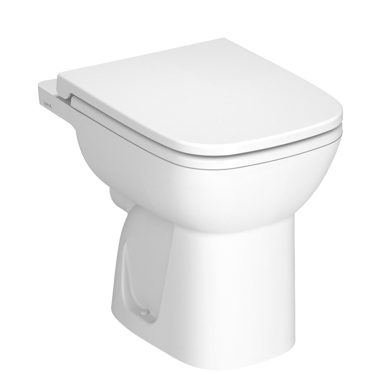 S20 Stand-WC Flachspüler Abgang waagerecht Open Back, Weiß