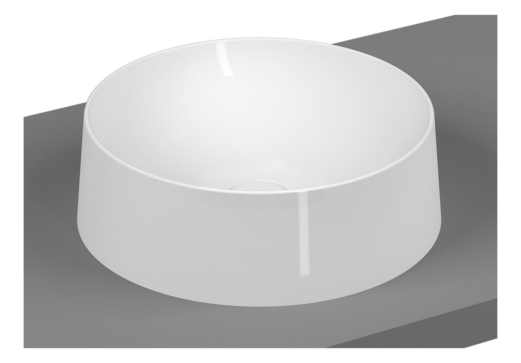 Frame Aufsatzschale rund, Weiß