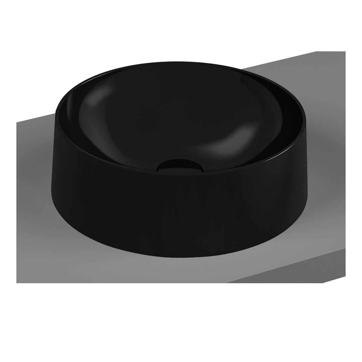 Frame Aufsatzschale rund, Schwarz