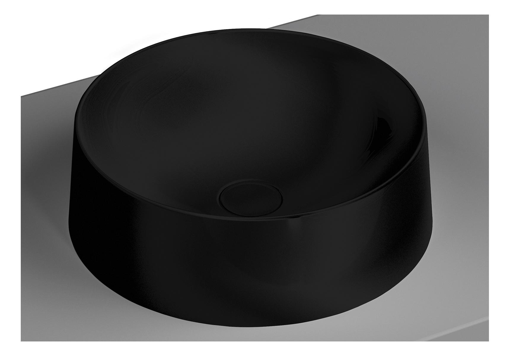 Frame Aufsatzschale rund, Schwarz Matt