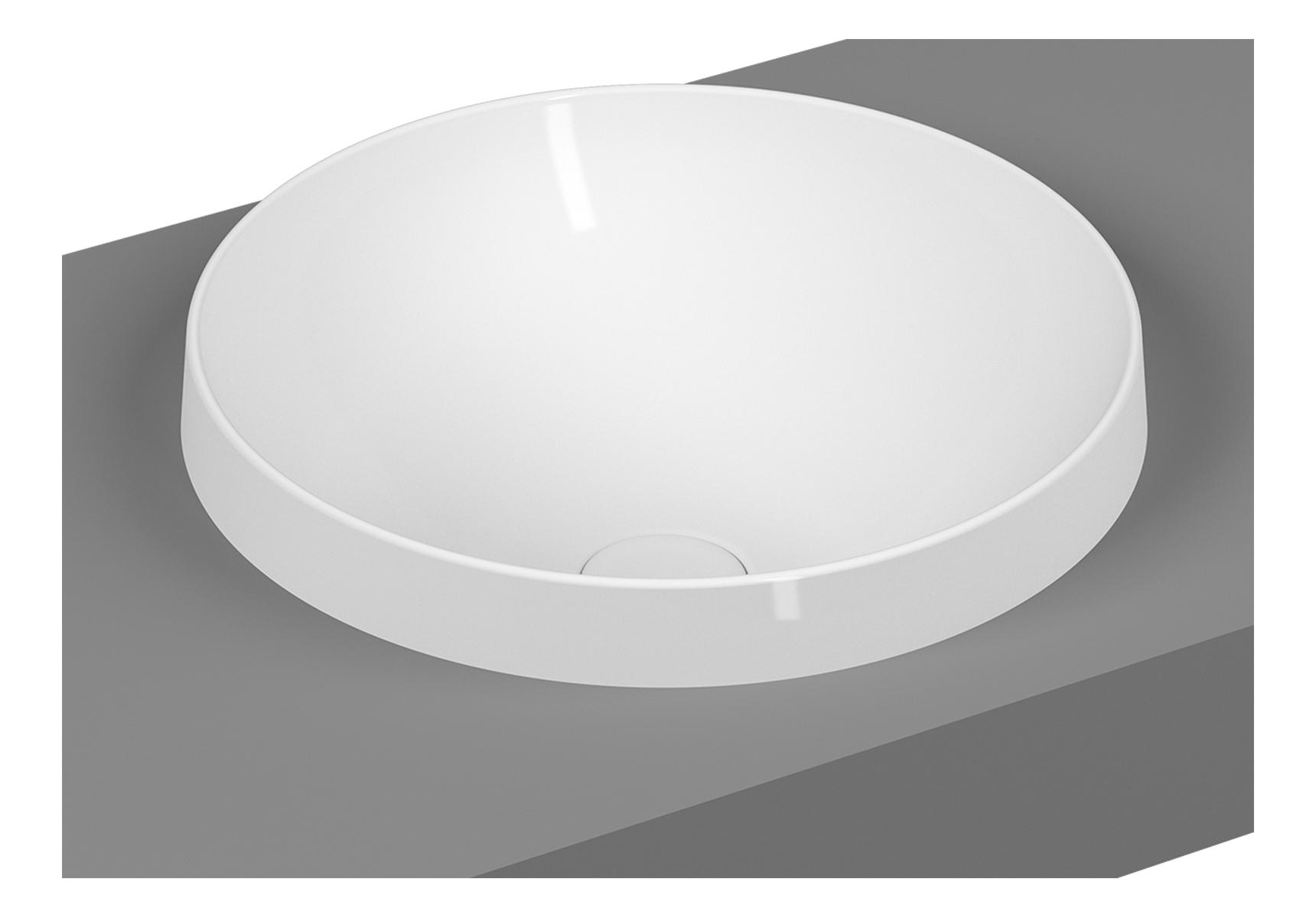 Frame Einbauschale rund, Weiß