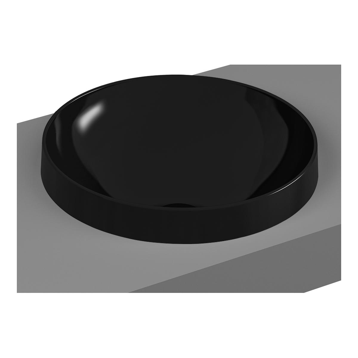 Frame Einbauschale rund, Schwarz