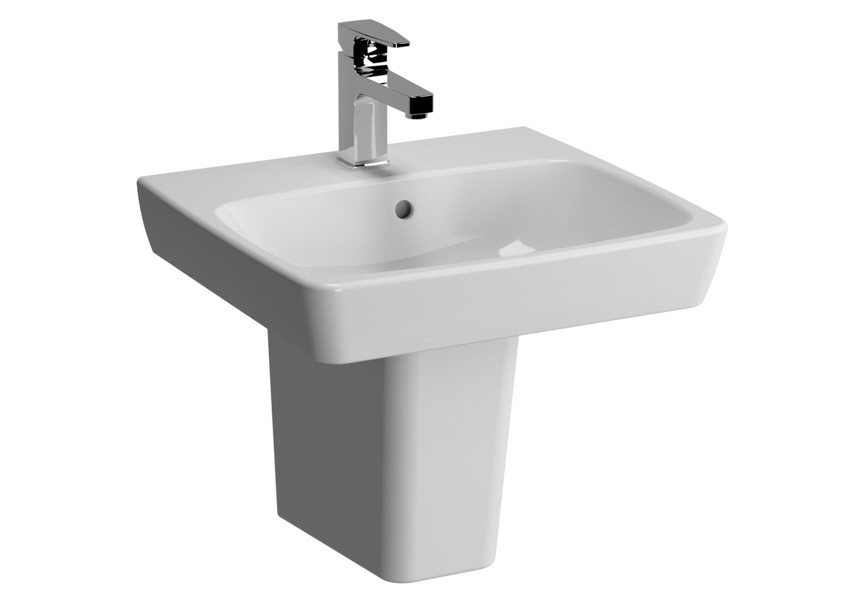Metropole lavabo, 50 cm, 1 trou de robinet central, avec trop-plein
