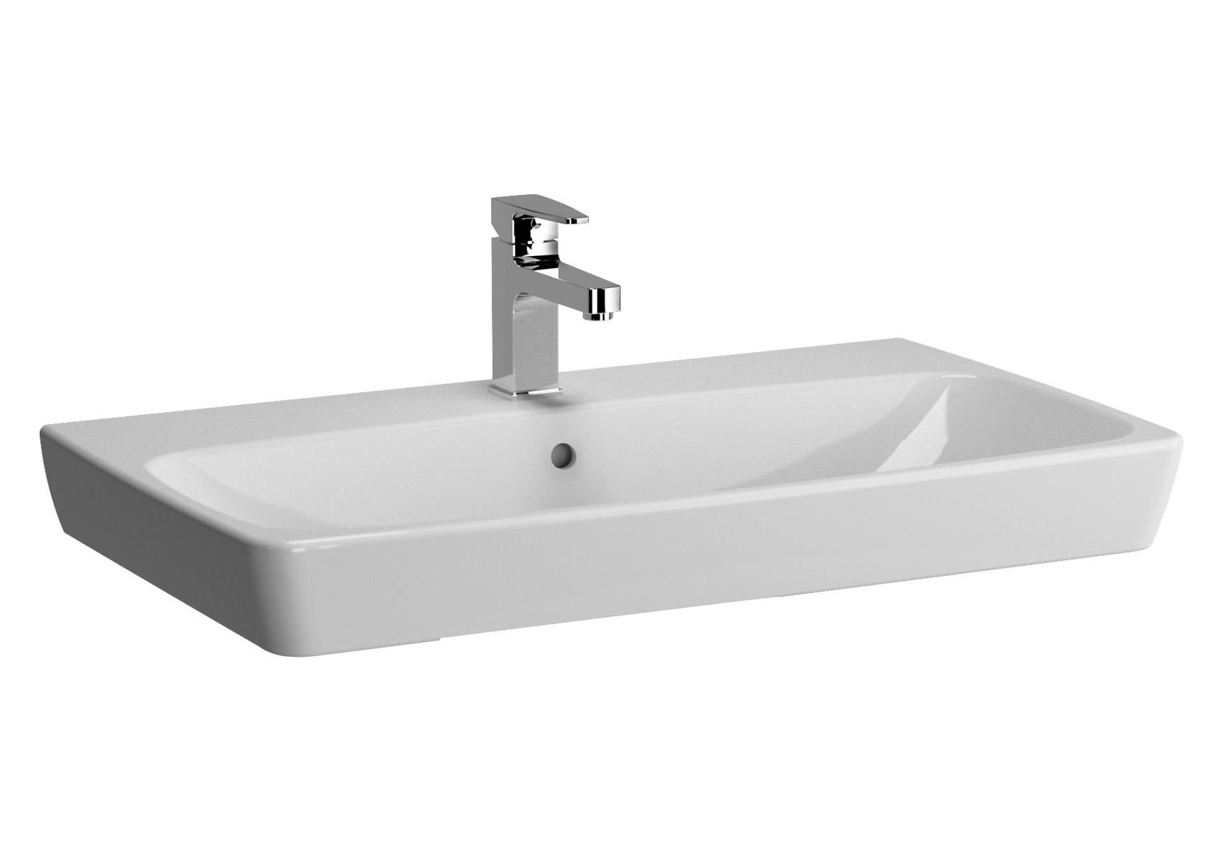 Metropole lavabo, 80 cm, 1 trou de robinet central, sans trop-plein