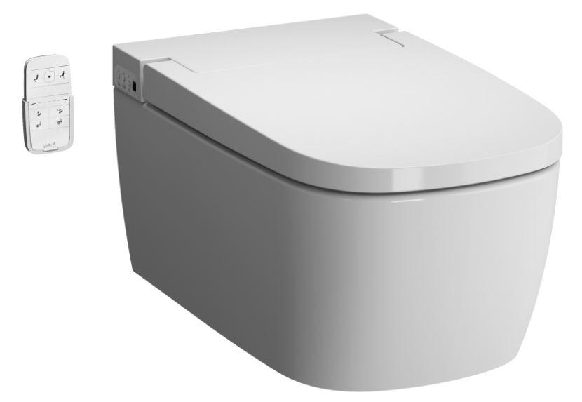 V-Care 1.1 Basic Dusch-WC mit Oberflächenveredelung, VitrA Clean, Weiß