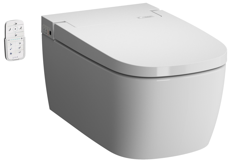 V-Care 1.1 Comfort Dusch-WC mit Oberflächenveredelung, VitrA Clean, Weiß
