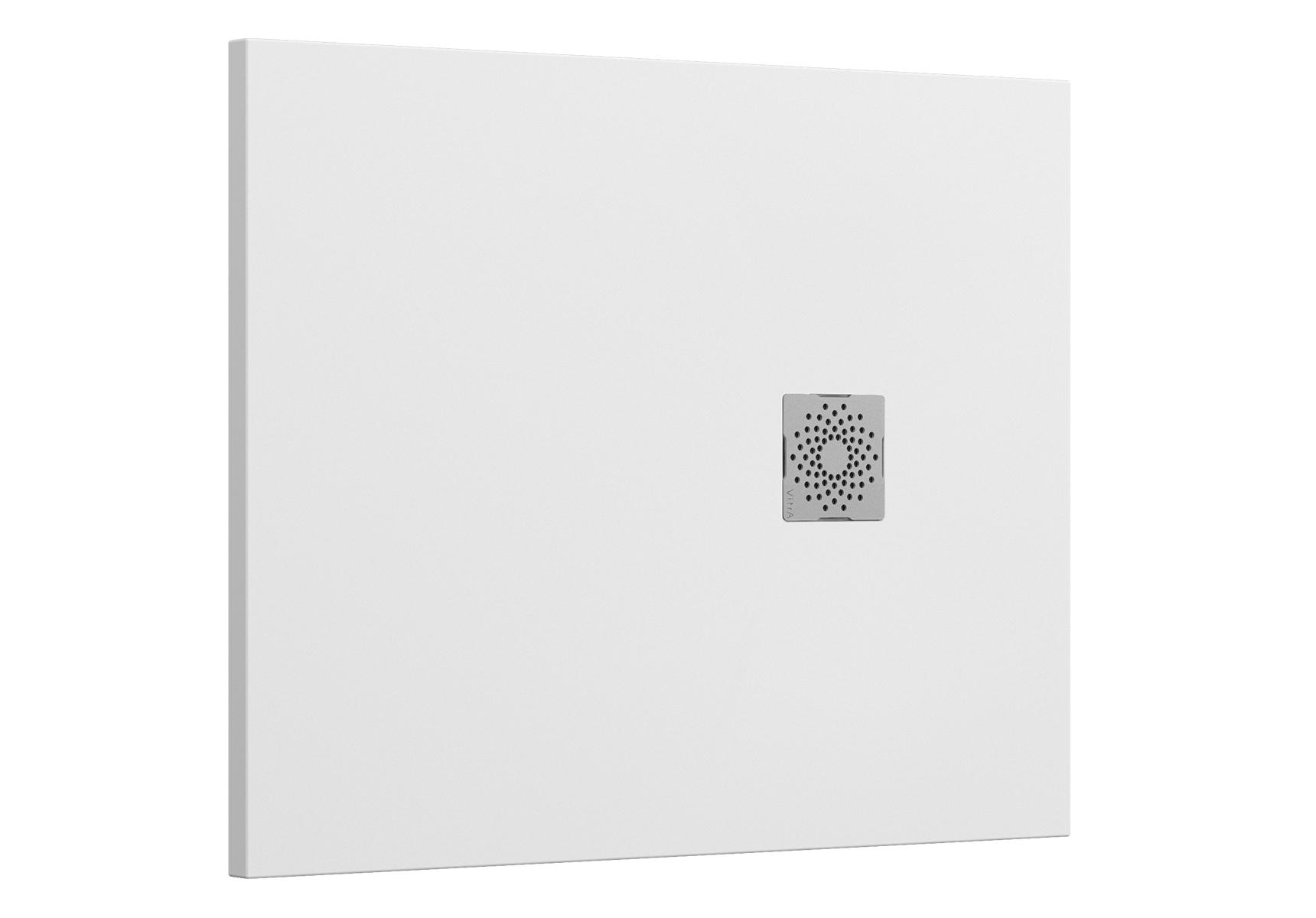 V-Stone Duschwanne, 100 x 80 cm, Weiß