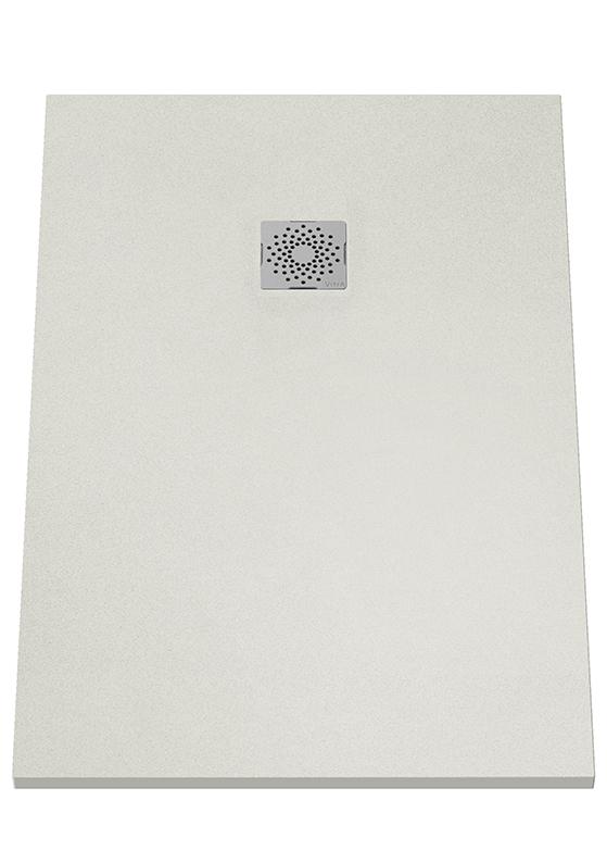 V-Stone Duschwanne, 120 x 80 cm, Grau