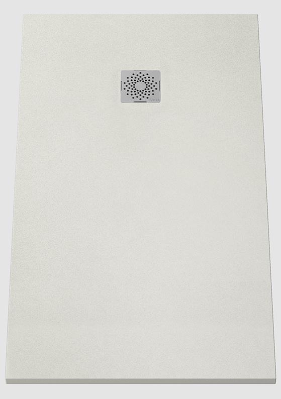 V-Stone Duschwanne, 140 x 80 cm, Grau