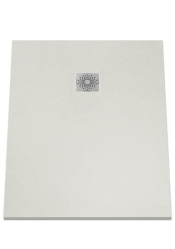 V-Stone Duschwanne, 120 x 90 cm, Grau