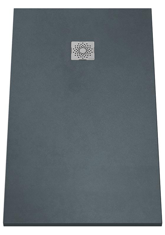 V-Stone Duschwanne, 140 x 80 cm, Anthrazit