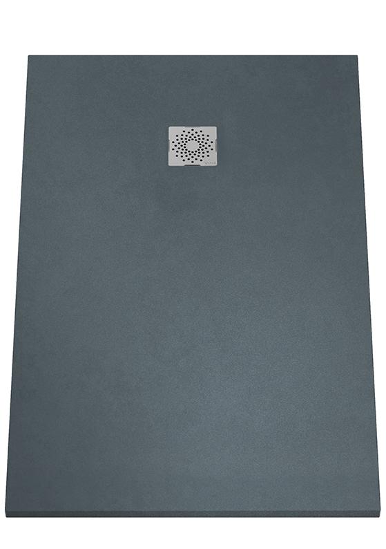 V-Stone Duschwanne, 140 x 90 cm, Anthrazit