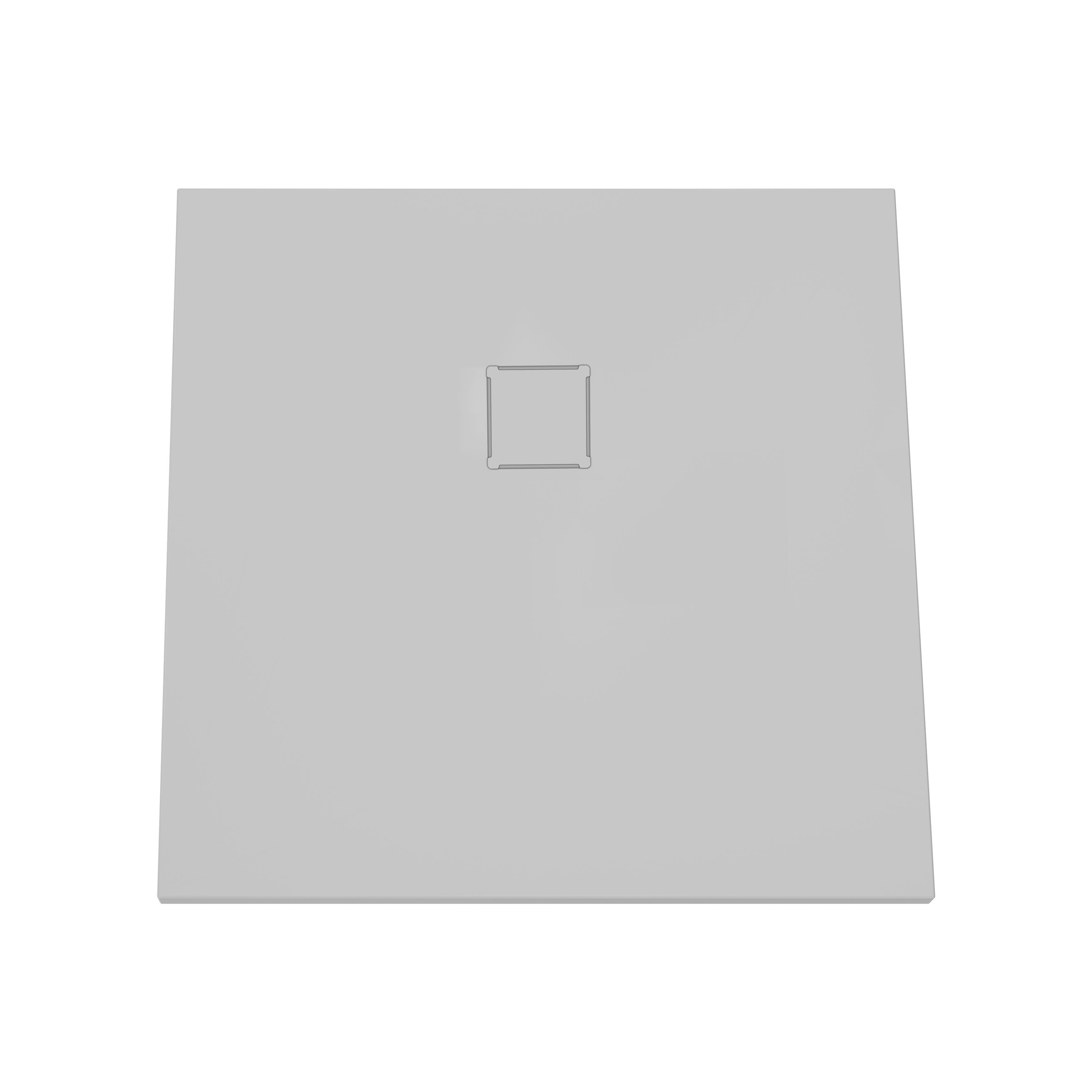 V-stone, receveur ultra plat en solid stone, 80 cm, gris