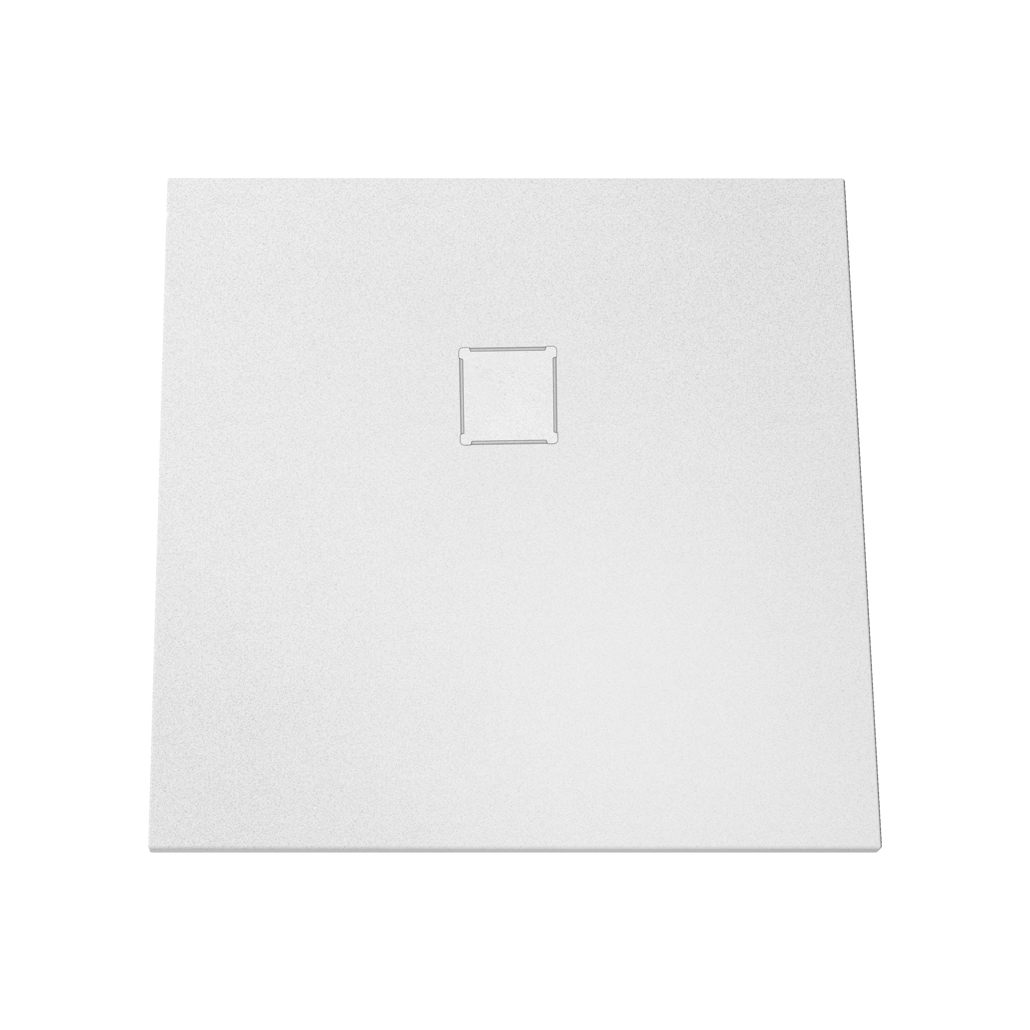 V-stone, receveur ultra plat en solid stone, 90 cm, blanc