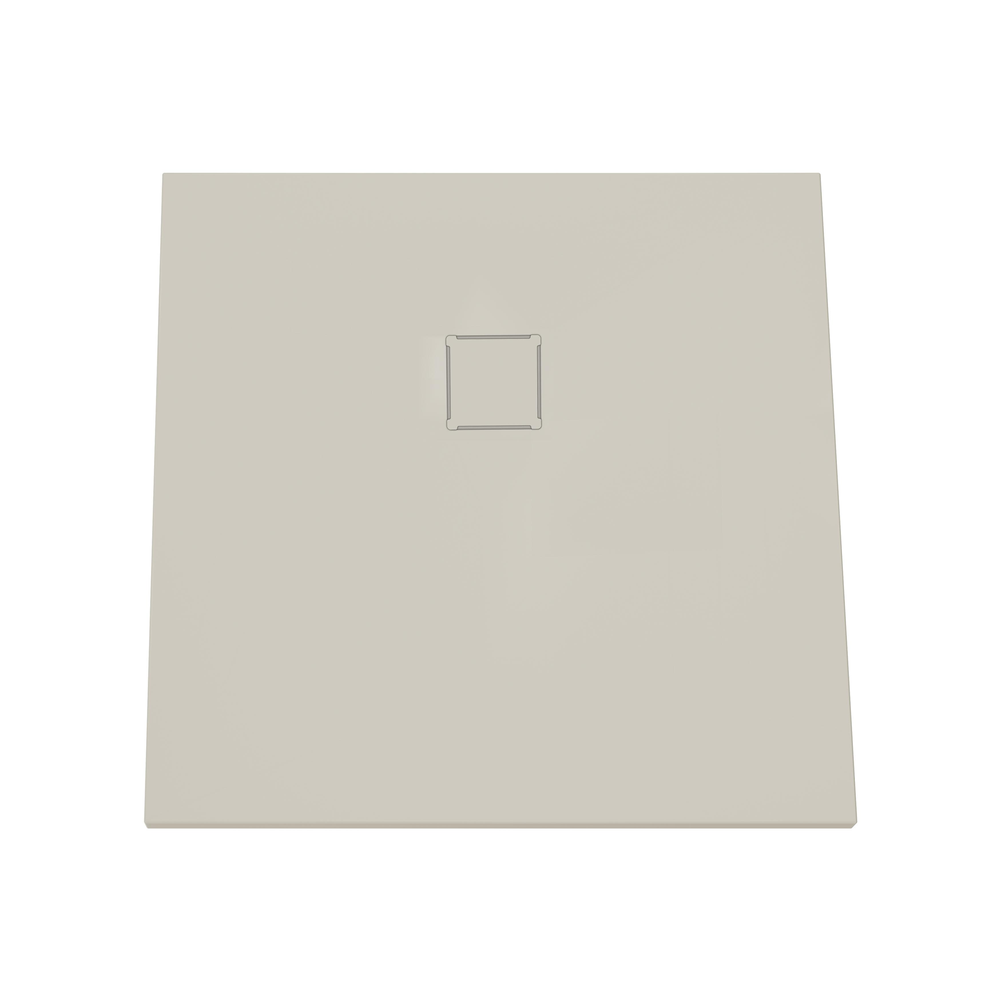V-stone, receveur ultra plat en solid stone, 100 cm, taupe