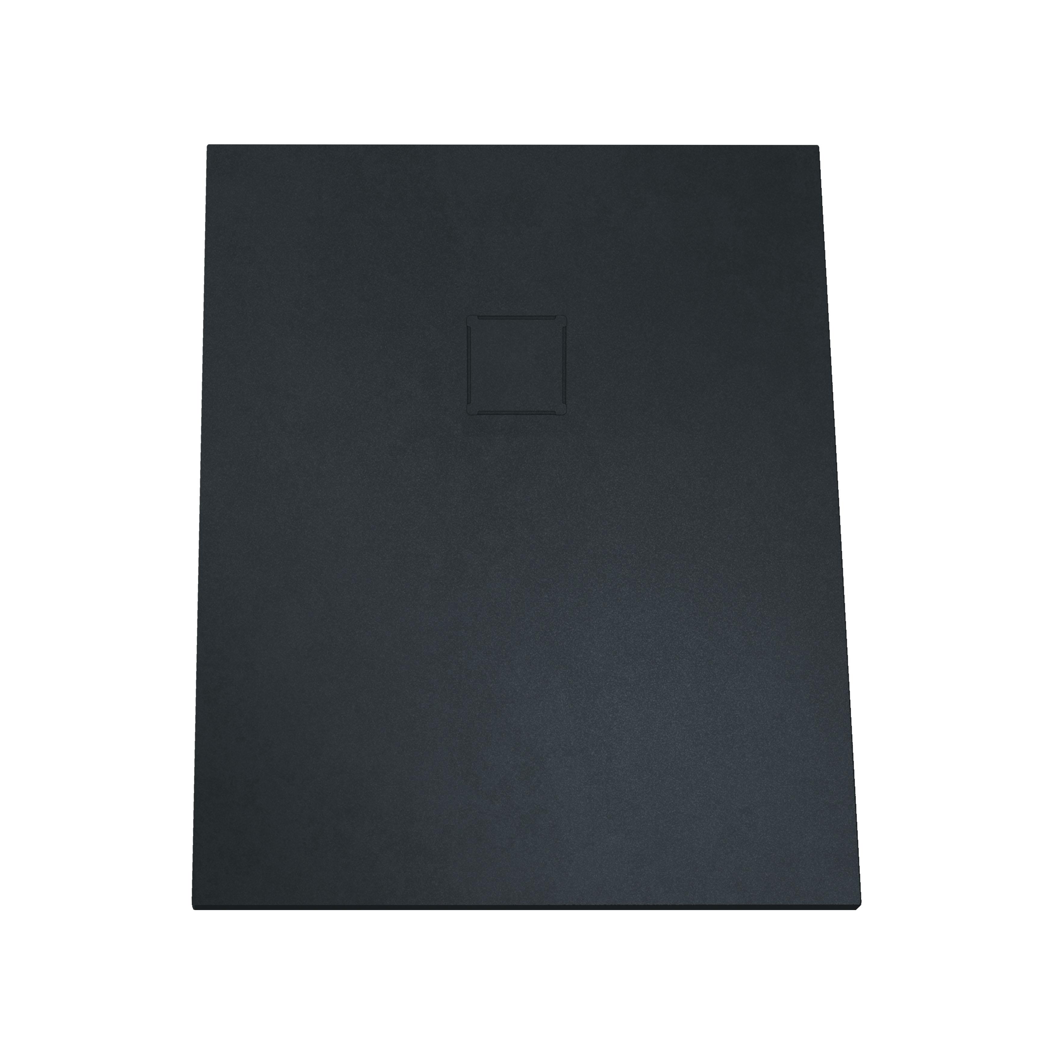 V-stone, receveur ultra plat en solid stone, 100  x  70 cm, anthraciteacite
